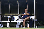 05 September 2014: UConn head coach Ray Reid. The Wake Forest University Demon Deacons hosted the University of Connecticut Huskies at W. Dennie Spry Soccer Stadium in Winston-Salem, North Carolina in a 2014 NCAA Division I Men's Soccer match. Wake Forest won the game 2-1 in sudden death overtime.