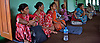 Victim's family members look on at the first meeting of PGID Nawalparasi as Ram Kumar Bhandari discusses what must be done to form a successful pressure committee and what he hopes to accomplish with the formation of a larger regional committee of victims' families. A meeting to form a local level committee of families of disappeared people, Nawalparasi Nepal