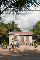 Hopkins, Stann Creek, Belize, April 2012. Hopkins is a small but vibrant Garifuna community of approximately 1,000 villagers. The people live mostly by farming and fishing, and more recently many have found work in the growing tourist industry. The residents are known for their friendliness and genuine hospitality, and welcome visitors to their village. Hopkins has a selection of gift shops, restaurants and small bars. Photo by Frits Meyst/Adventure4ever.com