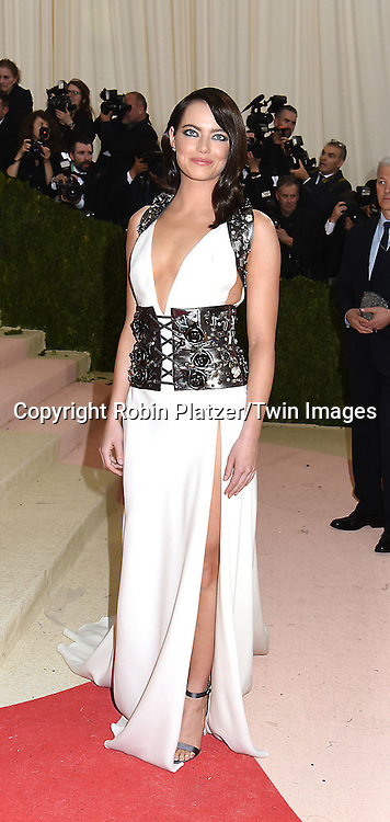 Emma Stone attends the Metropolitan Museum of Art Costume Institute Benefit Gala on May 2, 2016 in New York, New York, USA. The show is Manus x Machina: Fashion in an Age of Technology. <br /> <br /> photo by Robin Platzer/Twin Images<br />  <br /> phone number 212-935-0770