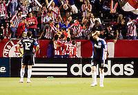 Chivas USA forward Justin Braun (17) celebrates his goal. CD Chivas USA defeated the San Jose Earthquakes 3-2 at the  at Home Depot Center stadium in Carson, California on Saturday April 24, 2010.  .