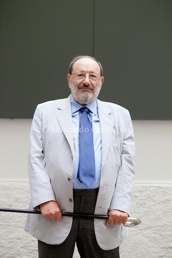 Umberto Eco Knight Grand Cross is an Italian semiotician, essayist, philosopher, literary critic, and novelist. Milan, settembre 2012. © Leonardo Cendamo