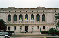 Detroit: Detroit Public Library, 1922.  Architect Cass Gilbert.  Vermont marble and serpentine Italian marble trim in an Italian Renaissance style.  Photo '97.