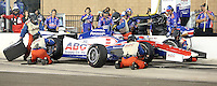 10/19/13 Fontana, CA:  Takuma Sato n the pits during the MAVTV 500 held at the Auto Club Speedway.