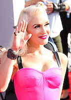 LOS ANGELES, CA, USA - AUGUST 24: Gwen Stefani at the 2014 MTV Video Music Awards held at The Forum on August 24, 2014 in the Los Angeles, California, United States. (Photo by Xavier Collin/Celebrity Monitor)
