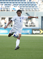 Mariano Acevedo kicks the ball. Honduras defeated Haiti 1-0 during the First Round of the 2009 CONCACAF Gold Cup at Qwest Field in Seattle, Washington on July 4, 2009.