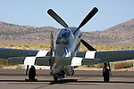"The Planes of Fame P-51D Mustang ""Wee Willy II"" sits on the ramp at Stead Field in Nevada. Wee Willy II participated in the Air Force Heritage Flight as well as the Warbird Flyby during the 2008 Reno National Championship Air Races."