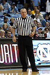 20 January 2016: Referee Jamie Luckie. The University of North Carolina Tar Heels hosted the Wake Forest University Demon Deacons at the Dean E. Smith Center in Chapel Hill, North Carolina in a 2015-16 NCAA Division I Men's Basketball game. UNC won the game 83-68.