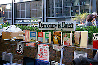 One Liberty Plaza...Democracy is Direct; at the Occupy Wall Street Protest in New York City October 6, 2011.