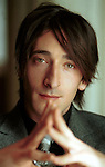 Actor ADRIEN BRODY in a 2002 portrait session during an interview for &quot;The Pianist&quot; which he won the Best Actor Oscar in 2002.