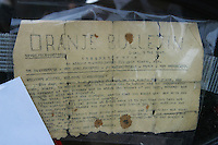 Francia Normandia Le spiagge dello sbarco alleato, documento di benvenuto agli alleati del 5 maggio 1945 Oranje Bulletin