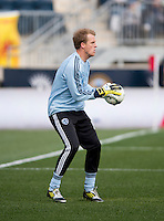 Eric Kronberg.  Sporting Kansas City defeated Philadelphia Union, 3-1. at PPL Park in Chester, PA.