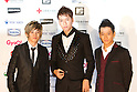June 25, 2011 - Chiba, Japan - Japanese pop boy band W-inds pose on the red carpet during the MTV Video Music Aid Japan event. Japanese and foreign stars attend this charity concert in support for the victims of the March 11 earthquake and tsunami that rocked the northeast region of Japan. (Photo by Christopher Jue/AFLO)