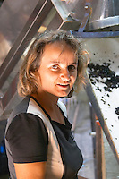 Odile Melinon, winemaker owner. Domaine Melinon, Morgon, Beaujolais, France