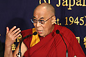 June 19, 2010 - Tokyo, Japan - Tibetan exiled spiritual leader the Dalai Lama delivers a speech during a press conference at the Foreign Correspondent Club of Japan in Tokyo on June 19, 2010. The Nobel Peace Prize winner visits Japan for a speaking tour but has no immediate plan to hold talks with Japanese political leaders.