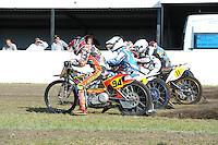 MOTORSPORT: JOURE: 18-05-2014, MC Flying Boetoe, Grasbaanraces Nutsbaan, Jeffrey Woortman (Warten) (#7), Dirk Fabriek (#94), ©foto Martin de Jong