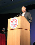 NSCAA president, and Southern Methodist University men's soccer head coach, Schellas Hundman on Saturday, January 21st, 2006, during the National Soccer Coaches Association of America's annual convention in the Grand Ballroom of the Pennsylvania Convention Center in Philadelphia, PA.