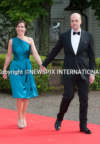 """PRIME MINISTER FREDRIK REINFELDT (of Sweden) and wife FILIPPA.Pre-Wedding Dinner hosted by the Government of Sweden in honour of H.R.H Crown Princess Victoria and Mr Daniel Westling at Eric Ericsonhallen was attended by Royalty from all over the world. Stockholm_18/06/2010..Mandatory Photo Credit: ©Dias/Newspix International..**ALL FEES PAYABLE TO: """"NEWSPIX INTERNATIONAL""""**..PHOTO CREDIT MANDATORY!!: NEWSPIX INTERNATIONAL(Failure to credit will incur a surcharge of 100% of reproduction fees)..IMMEDIATE CONFIRMATION OF USAGE REQUIRED:.Newspix International, 31 Chinnery Hill, Bishop's Stortford, ENGLAND CM23 3PS.Tel:+441279 324672  ; Fax: +441279656877.Mobile:  0777568 1153.e-mail: info@newspixinternational.co.uk"""