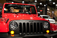 A Jeep is seen  at the 2013 New York International Auto Show in New York March 27, 2013. The 113th New York International Auto Show, which runs from March 29 to April 7, features 1,000 vehicles as well the latest in tech, safety and innovation.  .VIEWpress /Kena Betancur