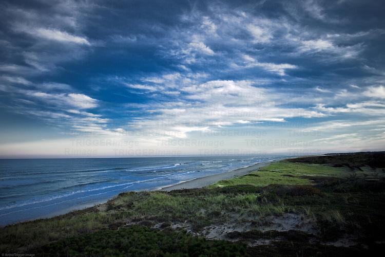 Dramatic sky and ocean along Cape Cod National Seashore, Eastham, Massachusetts, USA