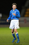 St Johnstone Academy v Manchester United Academy....17.04.15   <br /> Morgan Miller<br /> Picture by Graeme Hart.<br /> Copyright Perthshire Picture Agency<br /> Tel: 01738 623350  Mobile: 07990 594431