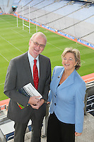 NO REPRO FEE. 19/10/2010. Ulster Bank Irish Franchise Association EXPO and Awards. Pictured at the launch of the Ulster Bank Irish Franchise Association EXPO and Awards which takes place on February 25th and 26th 2011 at Croke Park Dublin were Orna Stokes, Senior Manger, Strategic Operations, Ulster Bank and Brian Hunt, Central Dublin Director of Business Banking, Ulster Bank.   See www.irishfranchiseassociation.com for information and to download entry forms and information on the exhibition. Picture James Horan/Collins Photos