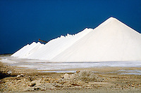MINING: SALTWORKS SALT MINE<br /> Bonaire, Netherlands Antilles<br /> Salt mining in the Netherlands.