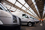 Photo: © Martin Beddall 5-7-06.VW Crafter van presentation day at Dover. Introducing the new van to Uk dealers and their customers as part of a roadshow around the UK..Many vans were onhand for dealers to test drive them around Dover's streets.
