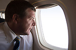 St Johnstone v FC Minsk...31.07.13<br /> Manager Tommy Wright pictured on the flight over to Grodno in Belarus where his team will play FC Minsk tomorrow night.<br /> Picture by Graeme Hart.<br /> Copyright Perthshire Picture Agency<br /> Tel: 01738 623350  Mobile: 07990 594431