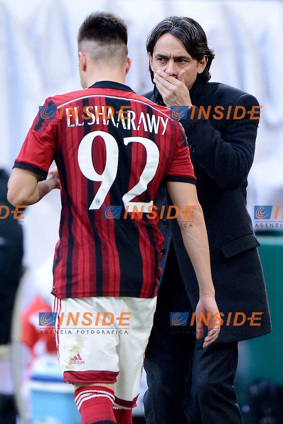 Filippo Inzaghi, Stephan El Shaarawy Milan<br /> Milano 18-01-2015 Stadio Giuseppe Meazza - Football Calcio Serie A Milan - Atalanta. Foto Giuseppe Celeste / Insidefoto