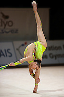 Alina Kabaeva of Russia turns back flexion during All-Around competition at 2006 Thiais Grand Prix in Paris, France on March 25, 2006.  (Photo by Tom Theobald)