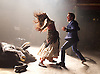 Carmen Disruption <br /> at Almeida Theatre, London, Great Britain <br /> press photocall<br /> 16th April 2015 <br /> <br /> Viktoria Vizin as The Chorus <br /> John Light as Escamillio <br /> <br /> Photograph by Elliott Franks <br /> Image licensed to Elliott Franks Photography Services