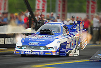 Jun. 19, 2011; Bristol, TN, USA: NHRA funny car driver Robert Hight during eliminations at the Thunder Valley Nationals at Bristol Dragway. Mandatory Credit: Mark J. Rebilas-