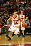 18 January 2004 Trey Guidry gallops up court.  Illinois State University Redbirds host the Southwest Missouri State Bears at Redbird Arena in Normal IL