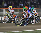 Heat 15 - Adams (yellow), Kasprzak (red), Lanham (blue), Richardson (green) - Lakeside Hammers vs Swindon Robins - Sky Sports Elite League at Arena Essex, Purfleet - 17/08/07  - MANDATORY CREDIT: Gavin Ellis/TGSPHOTO - SELF-BILLING APPLIES WHERE APPROPRIATE. NO UNPAID USE. TEL: 0845 094 6026..