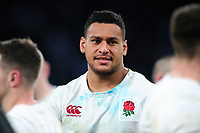 Nathan Hughes of England looks on after the match. RBS Six Nations match between England and Scotland on March 11, 2017 at Twickenham Stadium in London, England. Photo by: Patrick Khachfe / Onside Images