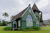 Wai'oli Hui'ia historic church, Hanalei, Kaua'i.