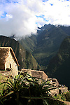 South America, Peru, Machu Picchu. Gatehouse.