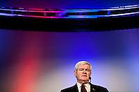 Republican presidential candidate Newt Gingrich speaks at the Veterans for a Strong America presidential forum on Saturday, December 10, 2011 in Des Moines, IA.