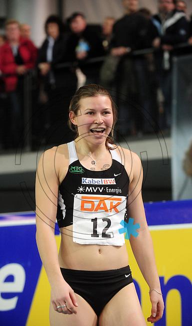 Leichtathletik - DHM 2009 Deutsche Hallenmeisterschaften - ARENA Leipzig - Track and Field - im Bild: 200m Frauen - Siegerin Anne Möllinger. Porträt.Foto: Norman Rembarz..Norman Rembarz, Holbeinstr. 14, 04229 Leipzig, Hypo-Vereinsbank, BLZ: 86020086, Kto: 357889472, Ust. ID.: DE 256991963 St. Nr.: 231/261/06432 !!!!!!  Honorar zuzüglich 7 % Mwst !!!!!!!!