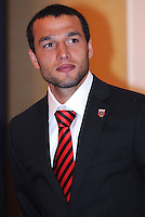 DC United defender Jed Zayner, at the 2011 Season Kick off Luncheon, at the Marriott Hotel in Washington DC, Wednesday March 16 2011.