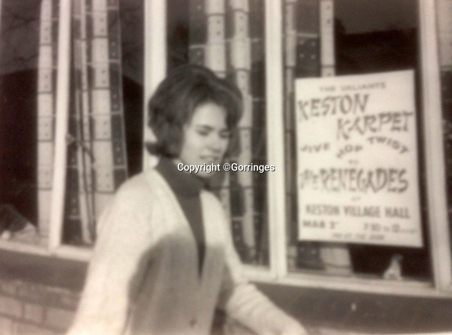 BNPS.co.uk (01202 558833)<br /> Pic: Gorringes/BNPS<br /> <br /> Vendor Sue Beal back in the sixties.<br /> <br /> A never before seen photograph of a 15 year-old David Bowie playing the saxophone in his first band has been unearthed after 55 years.<br /> <br /> The late music icon formed the Konrads in 1962 who played halls, clubs and pubs in and around Bromley in south east London.<br /> <br /> He had yet to adopt the 'Bowie' persona so he was still known as his real name Davy Jones.<br /> <br /> The photo was taken by Sue Beal, 69, who saw him play at her local youth club in Keston.<br /> <br /> The retired former secretary, from Uckfield in Kent, has decided to put the unpublished photo which she has treasured for more than five decades up for auction and it is tipped to sell for &pound;80.