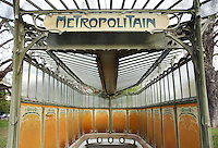 Station Carries Dauphine, subway Paris 16th, France, 1900 - 1901, Art Nouveau, built by architect Hector Guimard (Lyon, 1867 - New York, 1942), the only style remaining house. Picture by Manuel Cohen