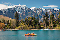 Queenstown and Lake Wakatipu with jetboat, Central Otago, New Zealand