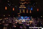 The elegant ballroom at a Gotham Hall wedding in New York City...