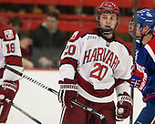 Ryan McGregor (Harvard - 20) - The visiting University of Massachusetts Lowell River Hawks defeated the Harvard University Crimson 5-0 on Monday, December 10, 2012, at Bright Hockey Center in Cambridge, Massachusetts.