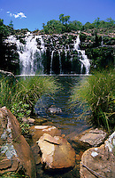 Poco Encantado (Enchanted Well) waterfall in Chapada dos Veadeiros, Brazilian Highlands, Goias, Brazil