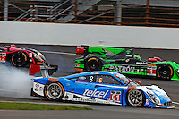 #01 Ford Riley, Scott Pruett, Sage Karam, Brickyard Grand Prix, Indianapolis Motor Speedway, Indianapolis, Indiana, July 2014.  (Photo by Brian Cleary/www.bcpix.com)