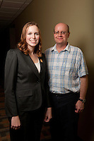 UWRF McNair Scholar, Erikka Korpi, left, <br /> Mathematics, College of Arts and Sciences with faculty mentor Keith Chavey, right.