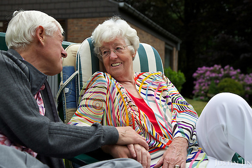 Gerda Windgasse, 72, and her husband Karel Broeckx at home in Belgium. <br /> <br /> Ms Windgasse is a bubbly retired secretary who&rsquo;s planning to end her life in the coming years by euthanasia. <br /> <br /> She has a still-mild case of Alzheimer&rsquo;s, and when she decides she&rsquo;s deteriorated enough, she intends to gather her family and receive a lethal injection.